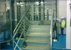 Welded & Fabricated clean room equip